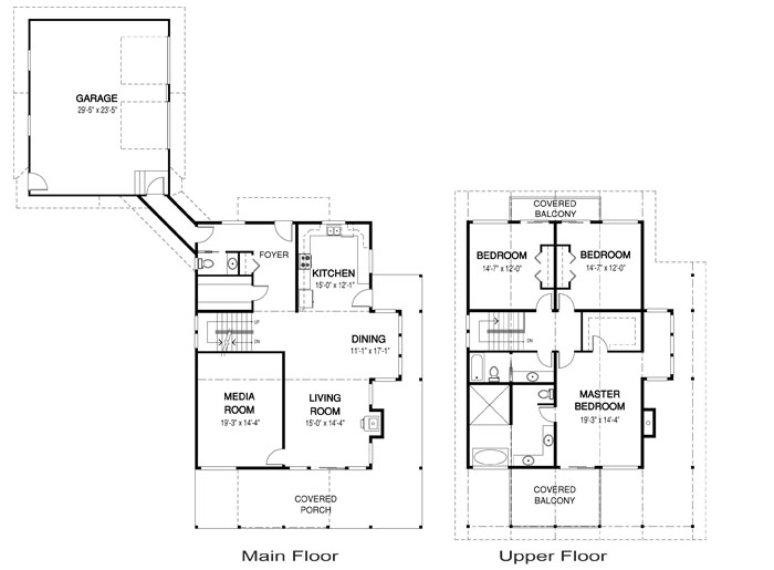 Oaksey post and beam family cedar home plans cedar homes for Cedar home floor plans