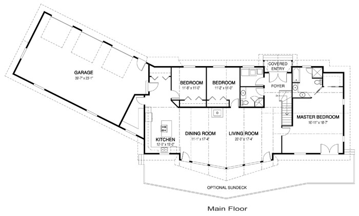 Valleyridge post and beam family cedar home plans cedar for Post and beam floor plans