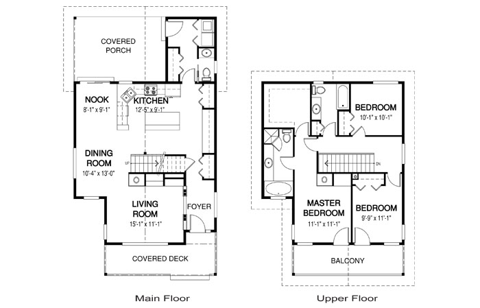 Abaco architectural retreats cottages cedar home plans for Small open concept house plans