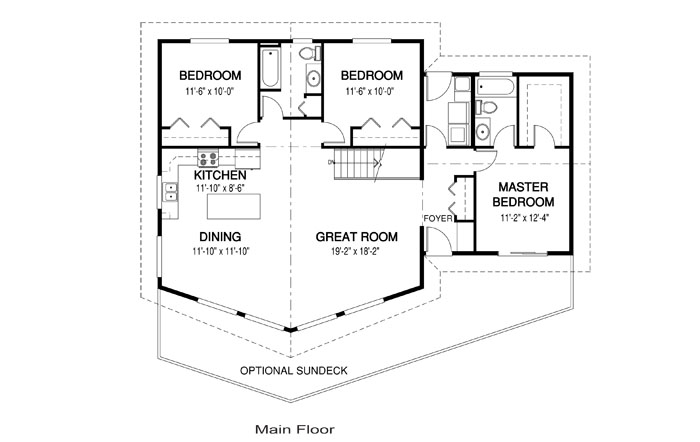 Ashley architectural family cedar home plans cedar homes for Cedar home floor plans