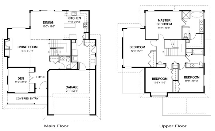 Bayside architectural family cedar home plans cedar homes for Cedar homes floor plans