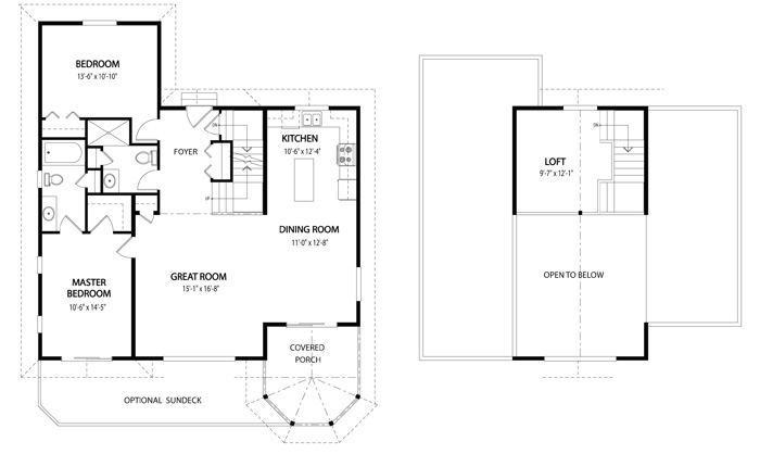 Birchview post and beam retreats cottages cedar home plans Cedar homes floor plans