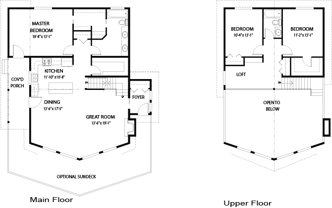 Bonneville post and beam family cedar home plans cedar homes Cedar homes floor plans