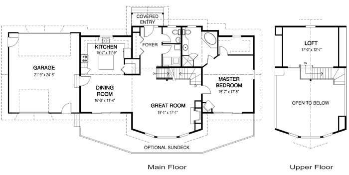Brendan post and beam family cedar home plans cedar homes for Post and beam house plans floor plans