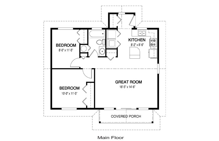 Chase architectural retreats cottages cedar home plans Cedar homes floor plans