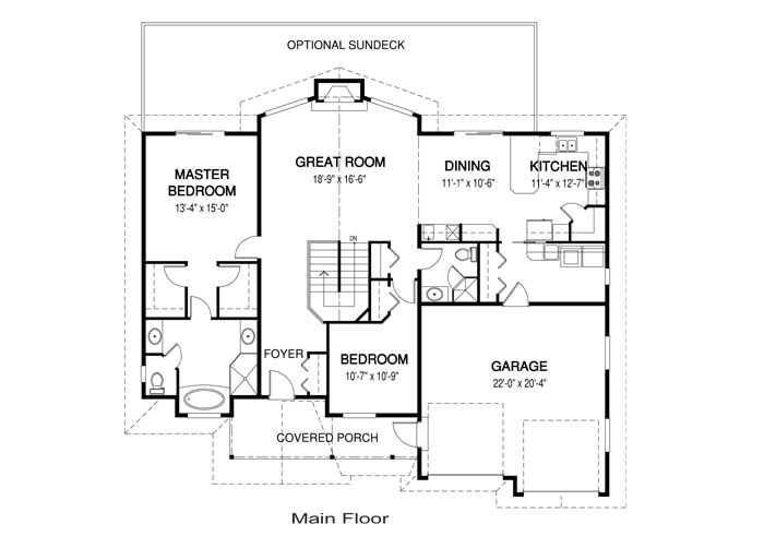 Clearbrook post and beam family cedar home plans cedar homes for Post beam home plans