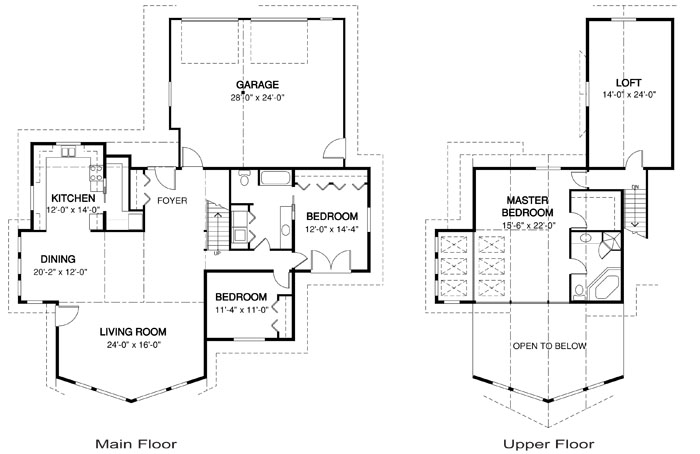 Clearwater post and beam family cedar home plans cedar homes for Cedar home floor plans