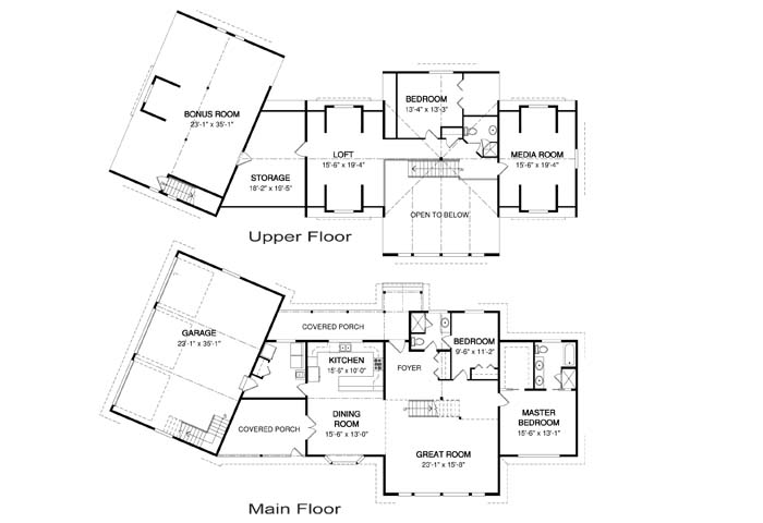 Craftsman post and beam family cedar home plans cedar homes for Cedar homes floor plans