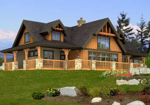 Cranbrook Post And Beam Family Cedar Home Plans