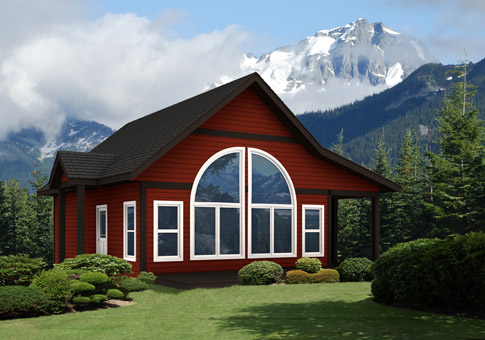Darter architectural classic cabins garages cedar home for Cedar cabin plans