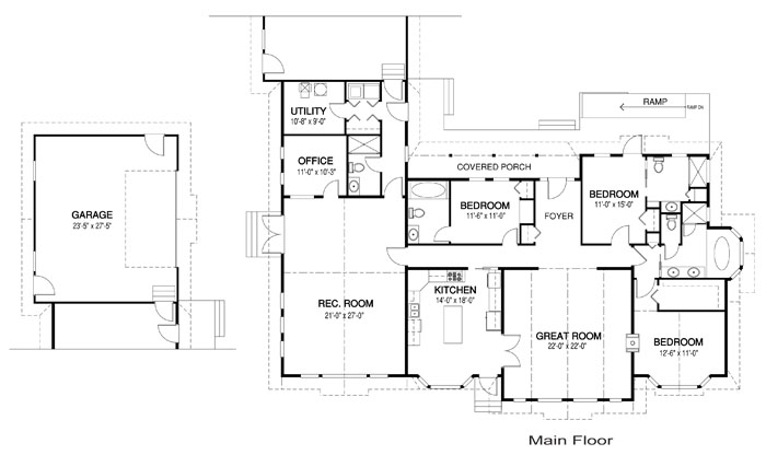 Deer valley architectural family cedar home plans cedar for Cedar home floor plans
