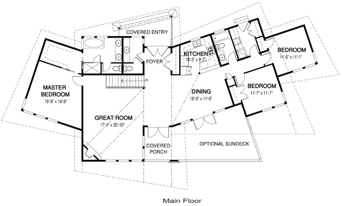 Discovery post and beam modern cedar home plans cedar homes for Post and beam floor plans