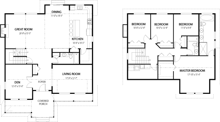 Dogwood 2 architectural family cedar home plans cedar homes Cedar homes floor plans