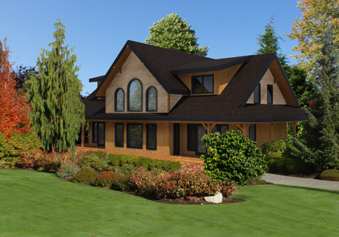 Dundarave post and beam retreats cottages home plans for Cedar house plans