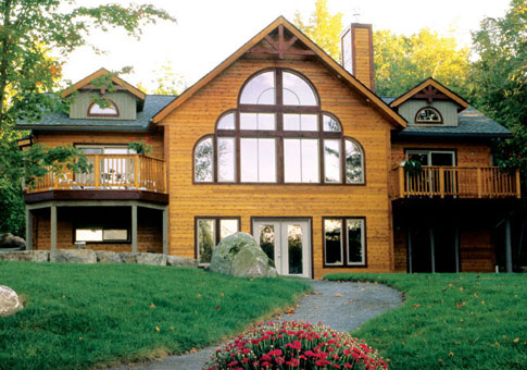 Empress landing post and beam retreats cottages home for Post and beam cottage designs