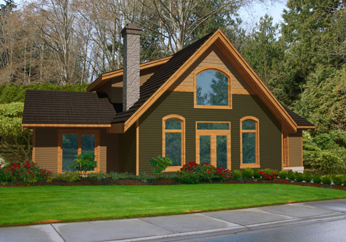 Fraserview post and beam retreats cottages home plans for Post and beam cottage designs