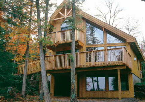 Geneva post and beam retreats cottages home plans for Post and beam cottage designs