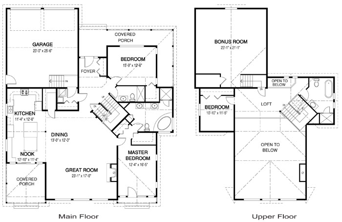 Heron landing post and beam family cedar home plans Cedar homes floor plans