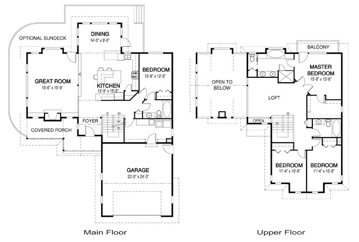 Jericho post and beam family cedar home plans cedar homes for Post and beam floor plans