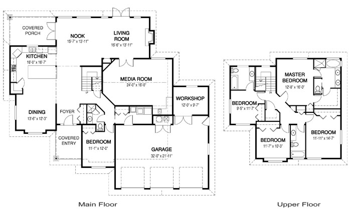 Jordan architectural modern cedar home plans cedar homes for Architectural house design with floor plan