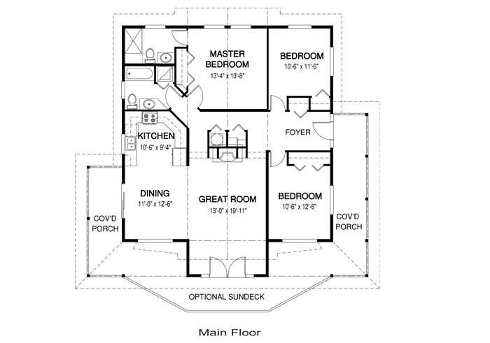 Juneau post and beam family cedar home plans cedar homes for Cedar home floor plans
