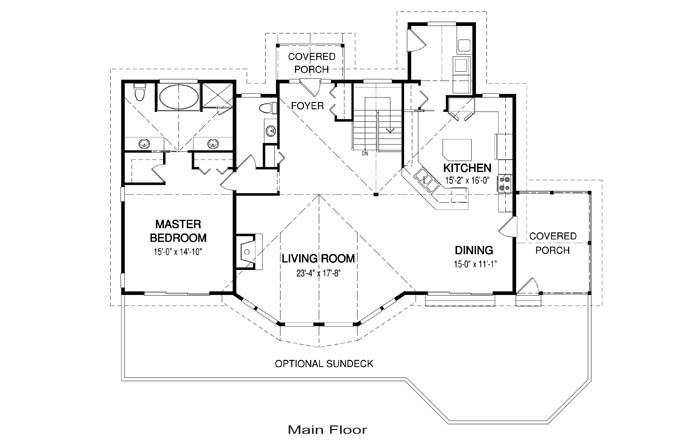 Kingswood post and beam family cedar home plans cedar homes for Cedar home floor plans