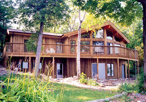 Laramie post and beam retreats cottages home plans for Post and beam cottage designs