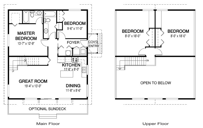Lark architectural retreats cottages cedar home plans Cedar homes floor plans