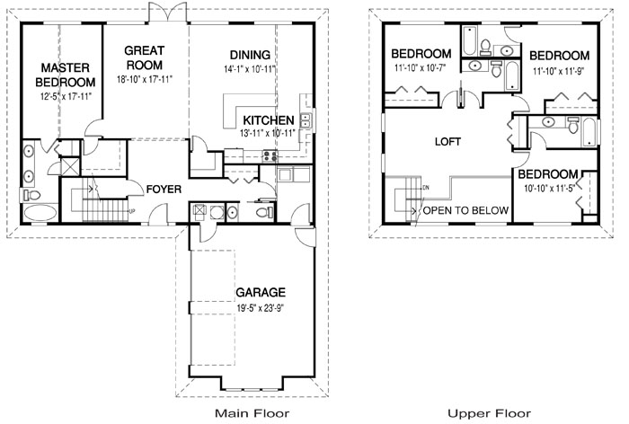 Millstream architectural family cedar home plans cedar homes for Cedar home floor plans