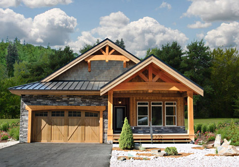 Osprey 2 post and beam family cedar home plans cedar homes for Post beam home plans