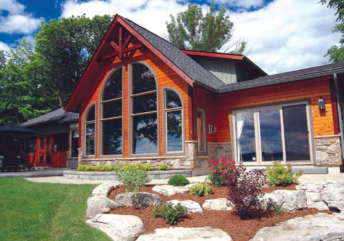 Shoreline Post And Beam Family Cedar Home Plans Cedar Homes