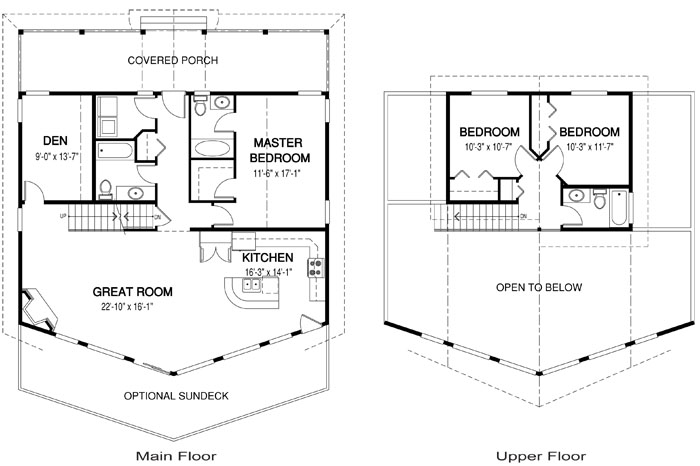 Springview post and beam family cedar home plans cedar homes for Cedar home floor plans