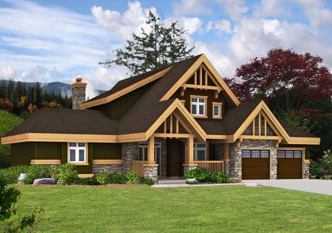 Tahoma post and beam family cedar home plans cedar homes for Cedar home plans