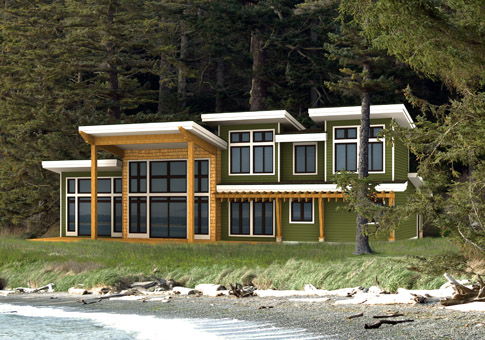 Tobiano post and beam family cedar home plans cedar homes for Maine post and beam kits