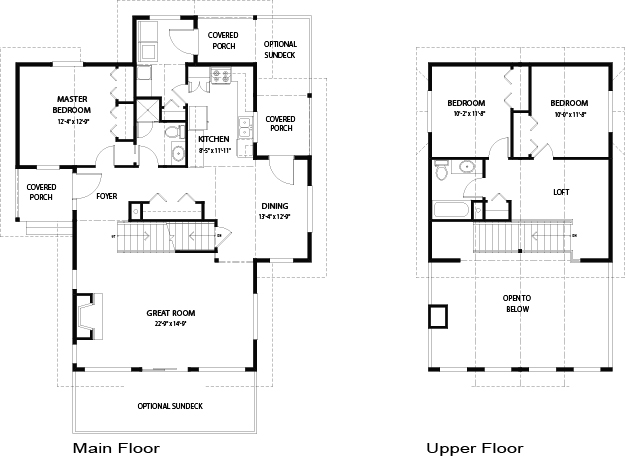 Valleyview post and beam family cedar home plans cedar homes for Post and beam floor plans