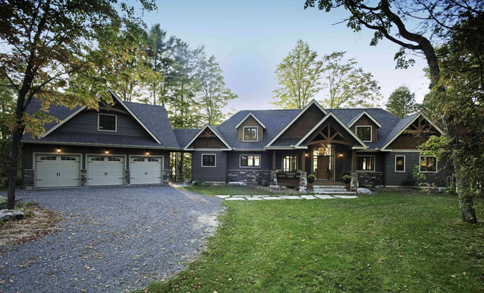 Gable crest cedar homes cedar homes for House plans with a view to the rear