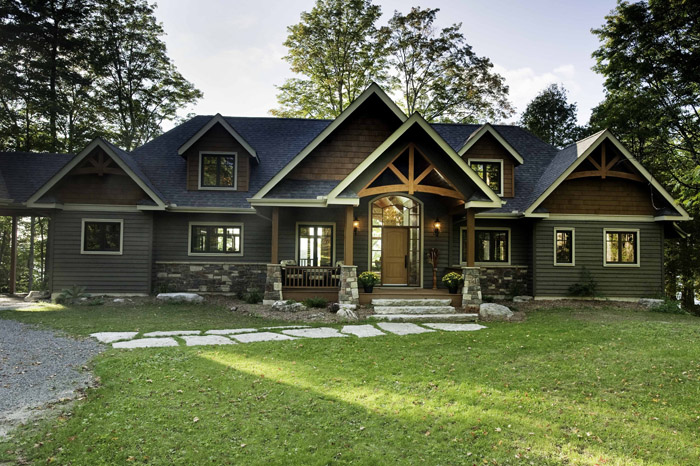 Gable crest cedar homes cedar homes Gable house plans