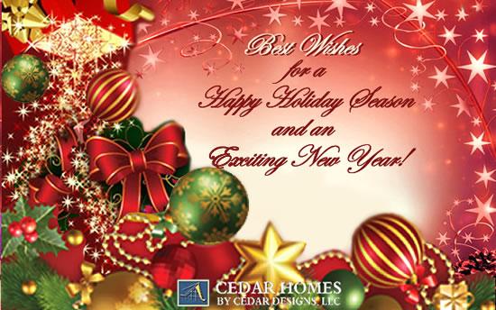 Cedar Homes by Cedar Designs Wishing You a Happy Holiday Season