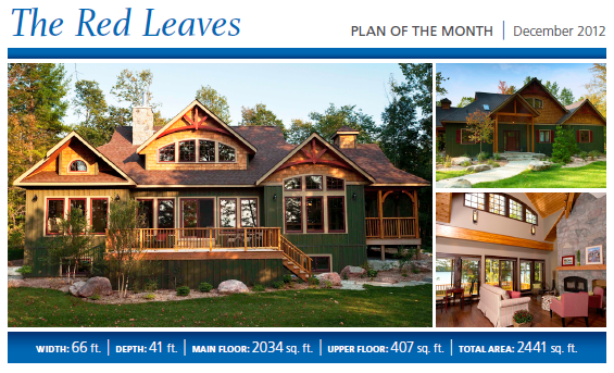 Cedar Home Plans of the Month - Red Leaves Cedar Homes