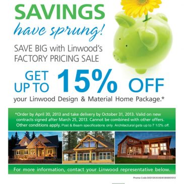 Linwood's Material Home Package FACTORY PRICING SALE