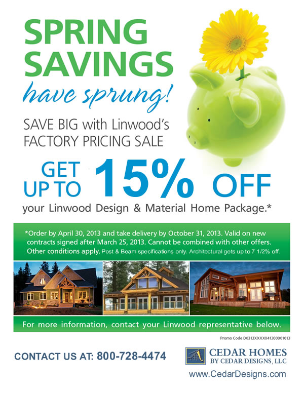Linwood Factory Spring Sale