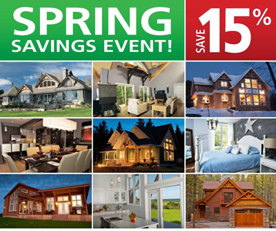 Cedar Homes Spring Sale