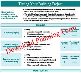 cedar homes planning form