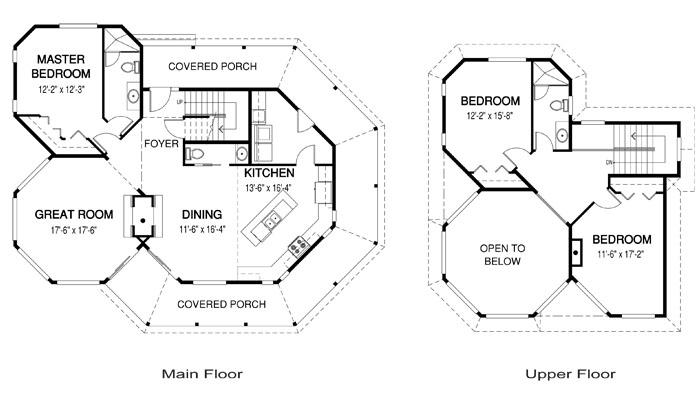 Octagon House Plans cedar homes glenorchard plan of month - custom cedar homes & house
