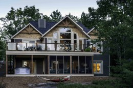 Award winning cedar homes designs plans linwood custom for Custom lake house plans