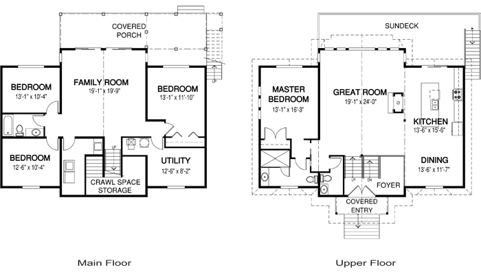 Cedar homes loon lake plan of month custom cedar homes for Cedar home floor plans