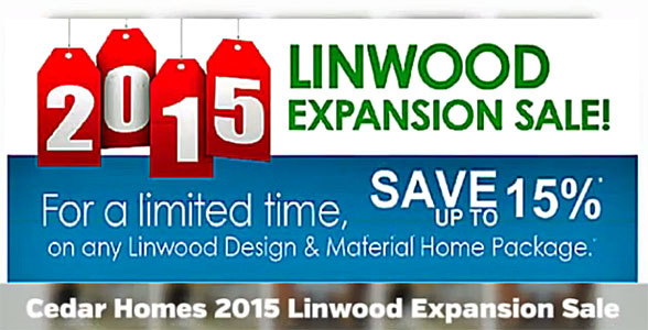 Linwood  Cedar Homes Expansion Sale Video