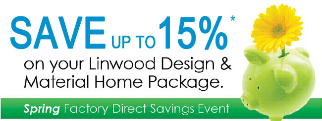Cedar Homes Spring Sale 15% OFF
