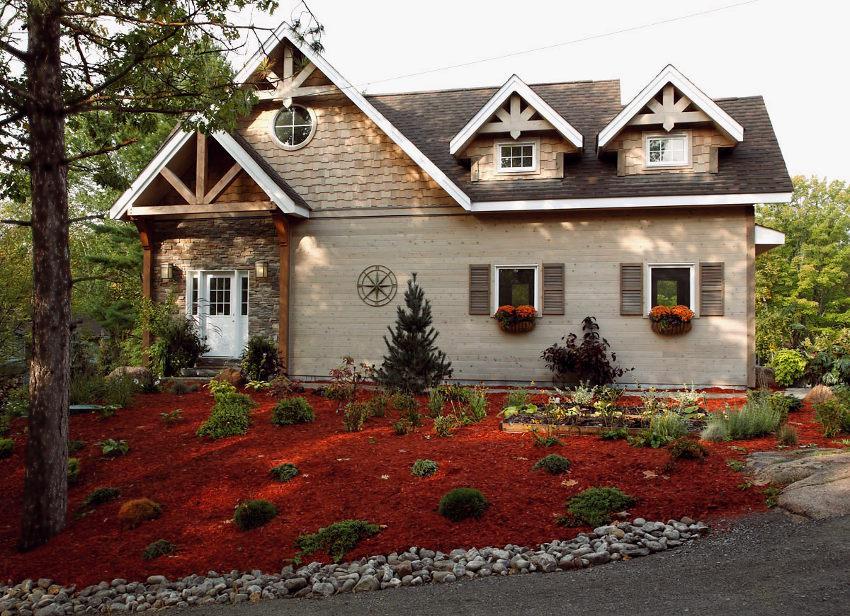 Greenbay cedar homes plan of month custom cedar homes for Gable pediments for sale
