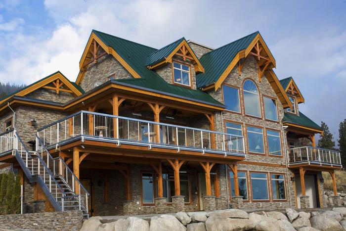 Cedar homes cansion timber frame plan month custom cedar for Timber frame cabin designs